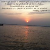 Last thought with God